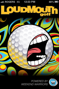 Loudmouth Golf Tour - launch screen